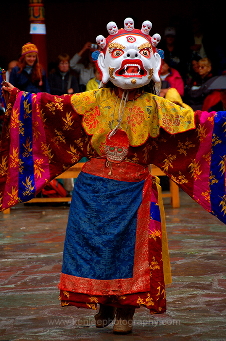 White Mask Dancer, Ladakh, India