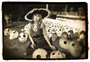 Woman And Skulls - Dia de los Muertos 2011