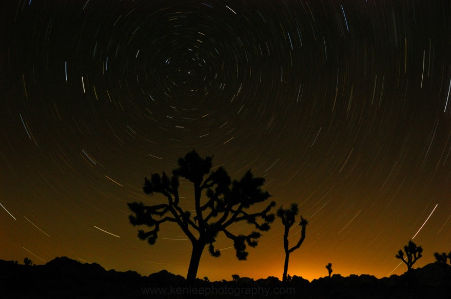 Joshua Tree Star Trails (Ken Lee, night photographer)