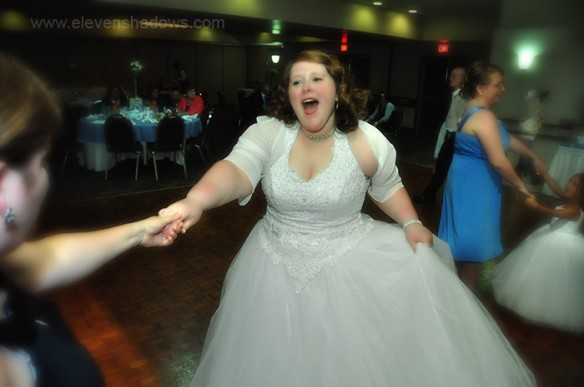 Bride with Unbridled Joy