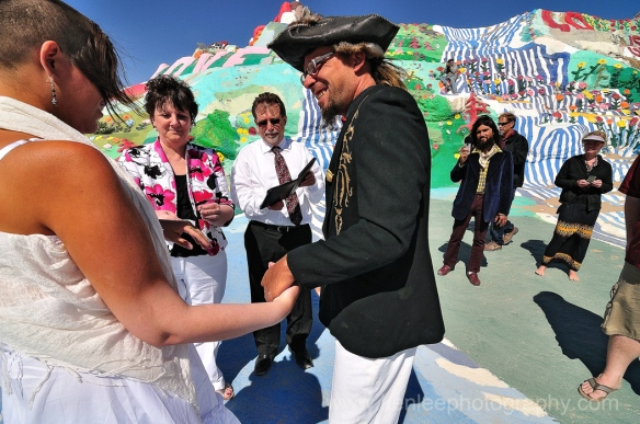 Slab City Wedding, Salvation Mountain