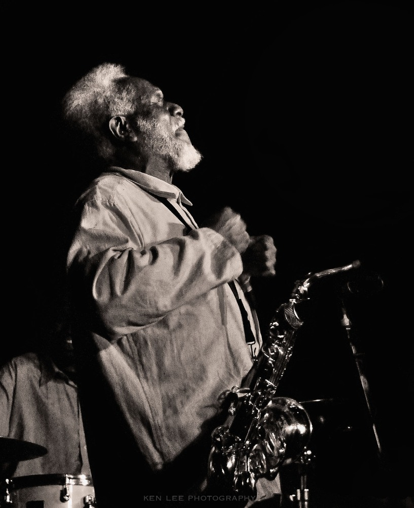 Pharoah Sanders performing live at Catalina Bar and Grill in Los Angeles, March 2011. I found myself with an enormous smile throughout the entire show. I've seen him perform three times, all at the same place. Once again exhibiting a bit of influence from Herman Leonard.