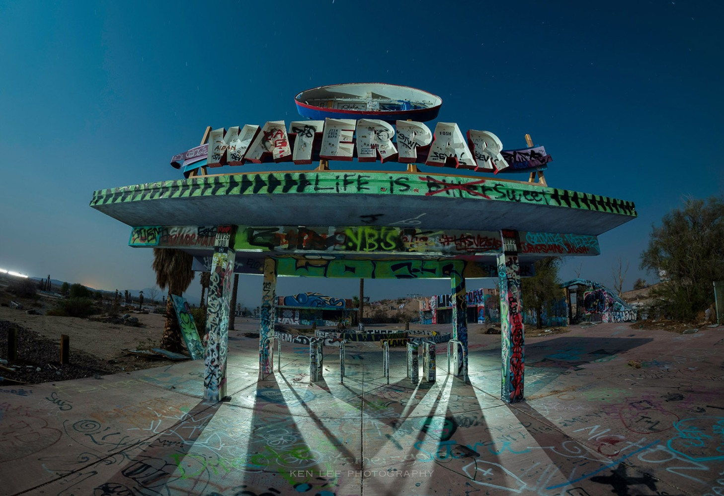 At one time, this waterpark featured waterslides where you could achieve speeds of up to 50 mph and slide down on your feet. Now, it's more popular with taggers, skateboarders and urban explorers.
