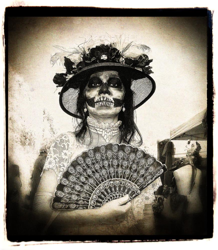 Dia de los Muertos, or Day of the Dead, Hollywood Forever Cemetery, Los Angeles, California.